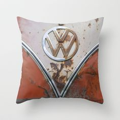 Rusty VW Throw Pillow