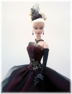Silkstone Barbie burgundy & black