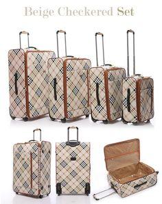 4piece designer trolley bag set - London Fog Luggage