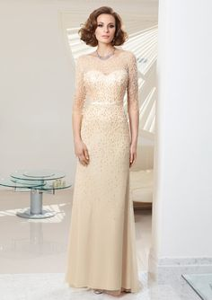 bolero evening dress and mother of the bride dress from VM by Mori Lee Style 70929 Beaded Tulle/Jersey Dres