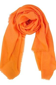 Birds of Paradise Modal and Cashmere Solid Scarf