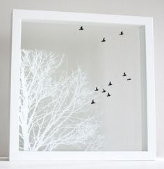 Hand Pulled Layered Screen Prints on Glass  by marianandhazel on Etsy