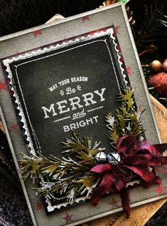 card christmas happy holidays chalkboard, pine branch branched holiday greens, Merry and Bright: A Farmhouse Christmas Christmas Card Crafts, 3d Christmas, Homemade Christmas Cards, Christmas Cards To Make, Xmas Cards, Handmade Christmas, Vintage Christmas, Holiday Cards, Christmas Decorations