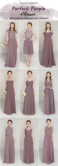 Mauve bridesmaid dresses from tulle and chantilly Mauve bridesmaid dresses from. - Mauve bridesmaid dresses from tulle and chantilly Mauve bridesmaid dresses from tulle and chantilly Source by kevingldwin - Purple Bridesmaid Gowns, Junior Bridesmaid Dresses, Colored Wedding Dresses, Wedding Bridesmaids, Dress Wedding, Bridesmaid Ideas, Bohemian Bridesmaid, Wedding Entourage Dress, Briadsmaid Dresses