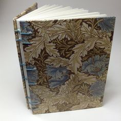 small coptic-stitched notebook with blank pages