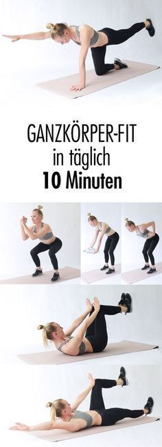Fit mit täglich zehn Minuten Training Start your day with sports straight away – this way you get a toned body with just ten minutes of effort every day *** 10 minutes every morning for a strong and lean body Fitness Workouts, Yoga Fitness, Training Fitness, Sport Fitness, Easy Workouts, Fitness Diet, Fitness Motivation, Health Fitness, Easy Fitness