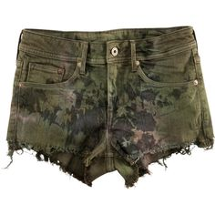 H&M Shorts (82 BRL) ❤ liked on Polyvore featuring shorts, bottoms, pants, short, khaki green, h&m shorts, short khaki shorts, green shorts, short shorts and khaki shorts