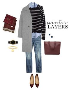 Winter Layers: A Touch of Merlot by bluehydrangea on Polyvore featuring Madewell, MSGM and Kate Spade