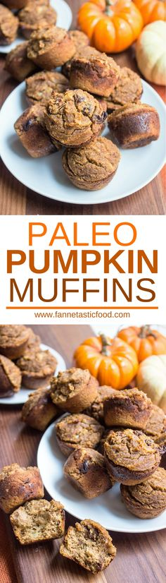 These Paleo Pumpkin Muffins are the perfect healthy option for your pumpkin spice cravings! They're refined sugar free, made with almond and coconut flour, and are super moist and delicious. Make a batch to have on hand for energizing snacks all week! Paleo Muffin Recipes, Paleo Pumpkin Recipes, Paleo Pumpkin Muffins, Almond Recipes, Healthy Breakfast Recipes, Keto Recipes, Healthy Breakfasts, Free Recipes, Snack Recipes