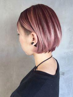 ピンクグラデーションボブモーブカラー_ba34584/ALBUM HARAJUKU_S【アルバム ハラジュク エス】をご紹介。2017年夏の最新ヘアスタイルを100万点以上掲載!ミディアム、ショート、ボブなど豊富な条件でヘアスタイル・髪型・アレンジをチェック。