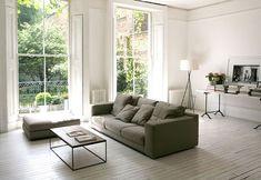 Witte vloer in woonkamer   Interieur inrichting