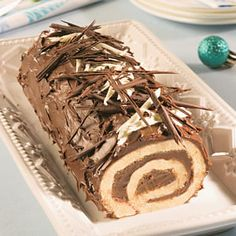 Easy Christmas Cookie Recipes, Christmas Cooking, Christmas Treats, Cake Roll Recipes, Dessert Recipes, Choco Torta, Glaze For Cake, Holiday Baking, Coffee Cake