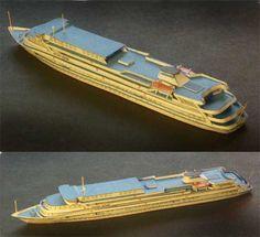 Anton Chekhov Motorship Free Paper Model Download