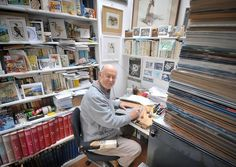 Robert Gillmor in his studio.
