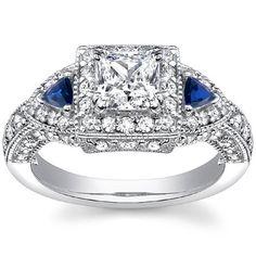 $1,974  -  2.00 CARATS PRINCESS CUT DIAMOND THREE STONE BLUE SAPPHIRE ENGAGEMENT RING ON 14K SOLID WHITE GOLD F 26 D http://www.amazon.com/dp/B00OPECWDU/ref=cm_sw_r_pi_dp_p.Nyub1JR6QJQ