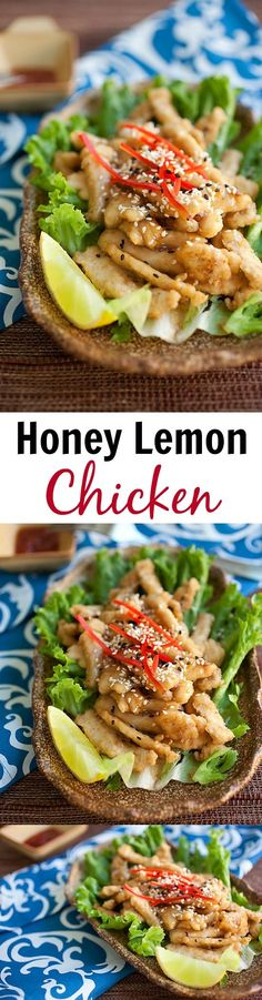 Honey Lemon Chicken – crispy chicken with the most AMAZING honey lemon sauce that is super delicious. Quick and easy recipe that anyone can make at home   rasamalaysia.com