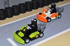 LEGO Go-Karts Lego Auto, Lego Vehicles, Kart Racing, Lego For Kids, Cool Lego Creations, Lego Worlds, Lego Projects, Karting, Lego Moc