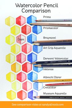 Watercolor Pencil Comparison