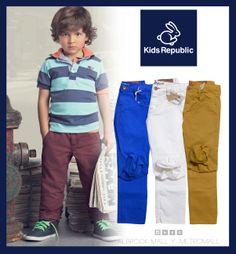 De qué color son tus pantalones?  Esta es la temporada de los colores fuerte y offcorss tiene variedades de pantalones de colores básicos, combínalos con lo que más te guste polos, t-shirt camisas perfectos para cualquiera ocasión