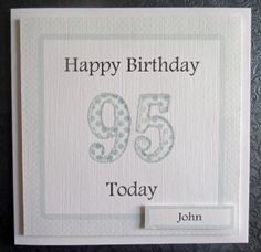 Personalised Male 95th Handmade Birthday Card - SC75 £2.75