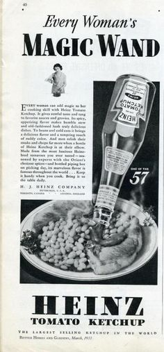 Chronically Vintage: Adventures in vintage advertising: Heinz Ketchup
