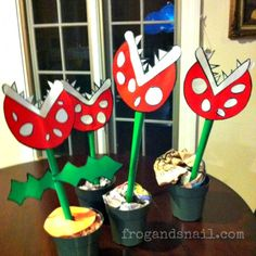 Piranha Plants - Mario bros themed decorations