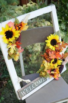Unique wreath idea...why not use a picture frame?
