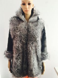 Big discount US $57.12  Luxury Women's Faux Fur Jackets  Winter Warm Hooded  Thick Jacket Women Long Big  Collar Fox Fur Coats Fashion Fur Hot Sale    . Search here: Leather Cardigan Jacket.