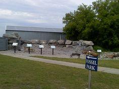 Lafarge fossil park in Alpena,Michigan