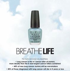 """OPI - """"Breathe Life"""" benefitting Lung Cancer Awareness (a pearly light blue)"""