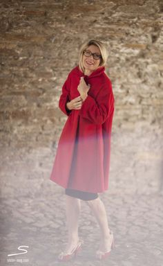 Red handmade coat from Wideness shoot in sisterMAG N° 4 #fashion #wardrobe Photo: Ashley Ludäscher