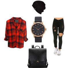 """Rock & Roll"" by trunkkzz on Polyvore featuring polyvore, fashion, style, Rails, Marc Jacobs, UGG Australia, clothing, StreetStyle, grunge and merylzakat"