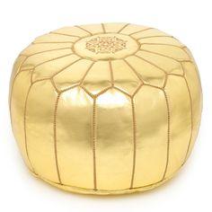 Gold Moroccan Ottoman
