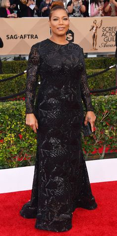 2016 SAG Awards Red Carpet Arrivals - Queen Latifah  - from InStyle.com