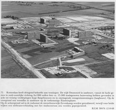 Rotterdam Ommoord - In aanbouw 12 Aug. 1968 met op de voorgrond de huidige Einsteinplaats
