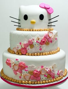 Ideas cake healthy birthday for adults - Birthday Cake Easy Ideen Healthy Birthday Cakes, Adult Birthday Cakes, Cool Birthday Cakes, Hello Kitty Birthday Cake, Hello Kitty Cake, New Cake Design, Best Cake Mix, Cake Mix Muffins, Syrup Cake