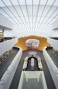 "La bibliothèque ""Brain"" de ""Free university "" — Berlin, Allemagne"