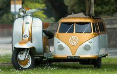 Vespa Scooter with VW side car -
