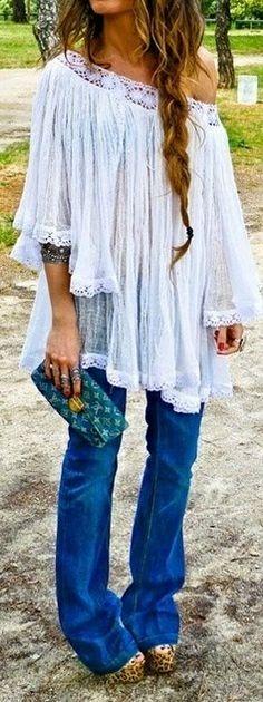 gauze off the shoulder, louie bag, leopard shoes chic