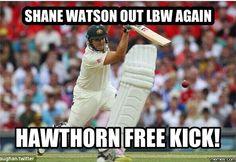 Funniest meme pictures, create the best memes Find Memes, New Memes, Football Memes, Sports Memes, Shane Watson, Free Kick, Fun Games, Good News, Cricket