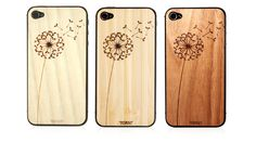 Wooden dandelion iPhone 4/5 cover