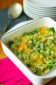 Broccoli and Cheese -- this creamy broccoli and cheese casserole will have your kids ASKING you to make broccoli. Total mom win!!!