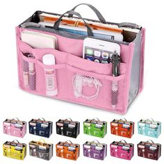 Universe of goods - Buy Organizer Insert Bag Women Nylon Travel Insert Organizer Handbag Purse Large liner Lady Makeup Cosmetic Bag Cheap Female Tote for only USD.Cosmetic Bags & Cases Archives - Designer Accessories Online - largest collection of fa Bag Women, Travel Bags For Women, Makeup Bag Organization, Travel Organization, Makeup Storage, Make Up Organizer, Handbag Organizer, Bath Organizer, Cheap Bags