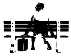 Forrest gump wall painting template