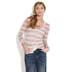 madewell striped boy cardigan $78