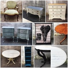 I started posting collages of the pieces we create each month this year! It's fun to see all of the month's creations in one photo.  I'll do separate collages for our custom work and workshops... I wonder how many pieces of furniture we save in a year?  here.... is April  #savedpieces #reimagined #april #workingfurnitureshop #nontoxic #furniturerescue #maisonblanchepaintcompany #mbpc #theelephantismyfavorite  #eastcotelane