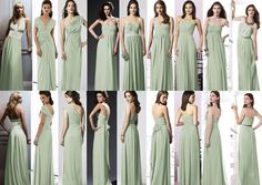 Mint Green Bridesmaids Dress - actually Celadon in Dressy collection. Meadow at David's Bridal (color).