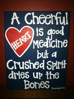 A cheerful heart is good medicine... / BIBLE IN MY LANGUAGE