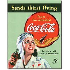 "Coca-cola-Sippin Metall ""Coca-cola sends thirst flying"": Amazon.de: Küche & Haushalt"