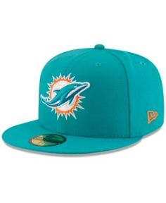 New Era Miami Dolphins Team Basic 59FIFTY Fitted Cap Men - Sports Fan Shop  By Lids - Macy s b5e3d66d8